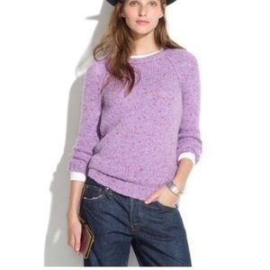 Madewell lavender knit sweater